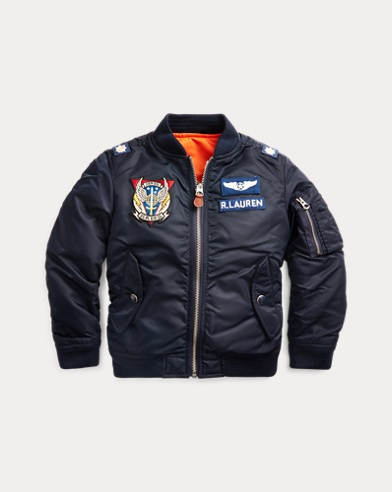 폴로 랄프로렌 Polo Ralph Lauren Reversible Twill Bomber Jacket,Aviator Navy