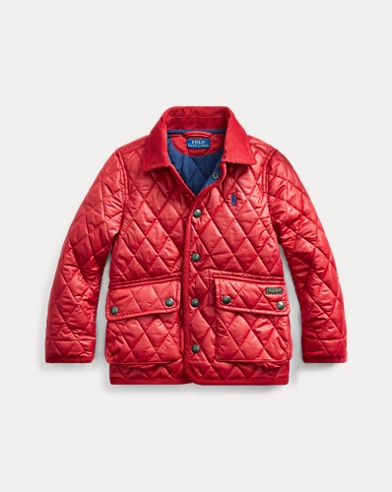 폴로 랄프로렌 보이즈 자켓 Polo Ralph Lauren Water-Resistant Quilted Jacket,Camden Red