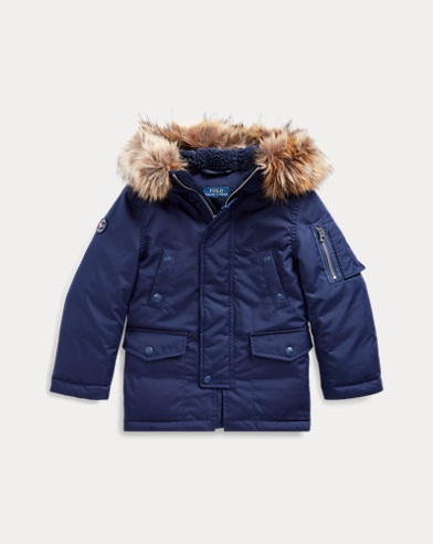 폴로 랄프로렌 Polo Ralph Lauren Faux Fur-Trim Down Parka,French Navy