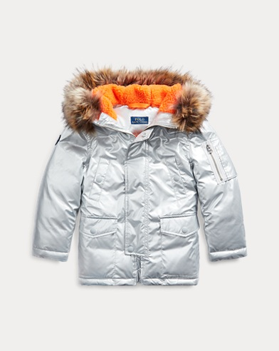 폴로 랄프로렌 Polo Ralph Lauren Metallic Down Parka,Silver