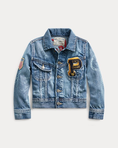 폴로 랄프로렌 남아용 자켓 Polo Ralph Lauren Denim Graphic Trucker Jacket,Cormac Wash