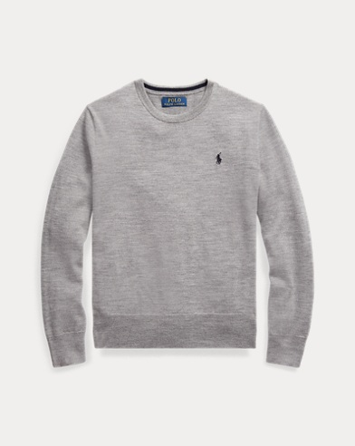 폴로 랄프로렌 보이즈 스웨터 Polo Ralph Lauren Merino Wool Crewneck Sweater,Dark Sport Heather