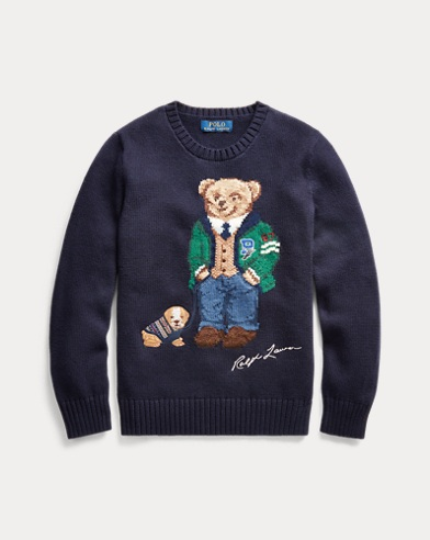 폴로 랄프로렌 Polo Ralph Lauren Polo Bear Cotton-Wool Sweater,RL Navy