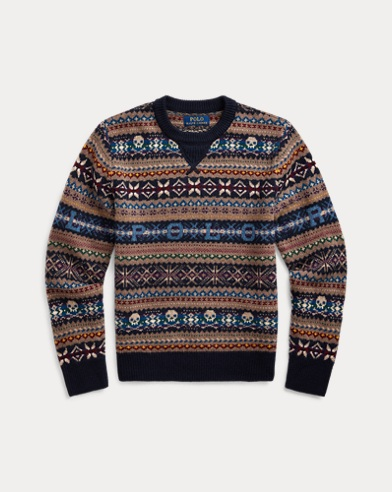 폴로 랄프로렌 Polo Ralph Lauren Polo Fair Isle Sweater,RL Navy Multi