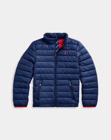 폴로 랄프로렌 보이즈 다운 자켓 Polo Ralph Lauren Packable Quilted Down Jacket,French Navy
