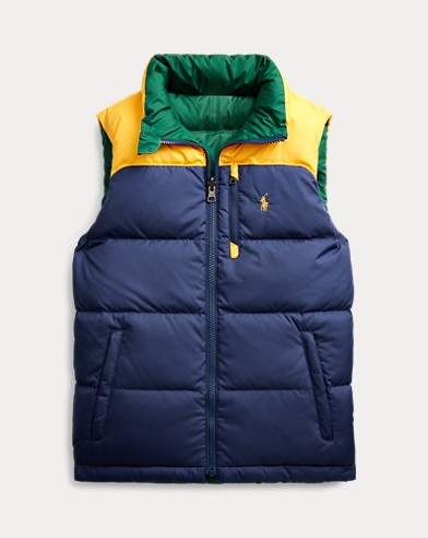 폴로 랄프로렌 보이즈 다운 조끼 Polo Ralph Lauren Reversible Down Vest,French Navy Multi