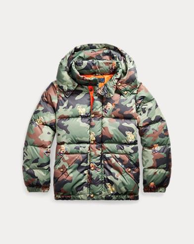 폴로 랄프로렌 보이즈 자켓 Polo Ralph Lauren Bear Camo Down Jacket,Bear Graphic Print