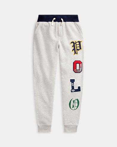 폴로 랄프로렌 보이즈 조거팬츠 Polo Ralph Lauren Fleece Graphic Jogger Pant,Light Grey Heather