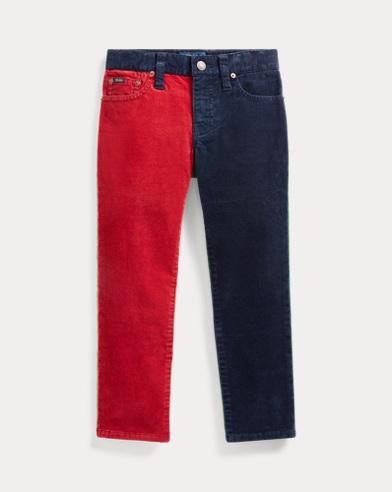 폴로 랄프로렌 남아용 스키니팬츠 Polo Ralph Lauren Varick Corduroy Skinny Pant,Navy Multi