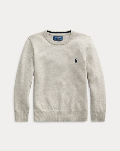 폴로 랄프로렌 남아용 크루넥 스웨터 Polo Ralph Lauren Cotton Crewneck Sweater,Dark Sport Heather