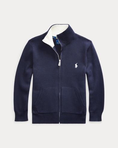 폴로 랄프로렌 남아용 집업 스웨터 Polo Ralph Lauren Cotton Full-Zip Sweater,RL Navy