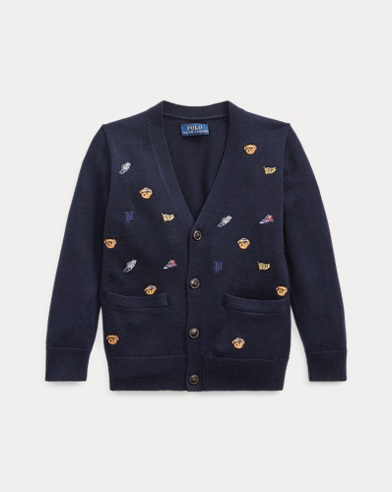 폴로 랄프로렌 남아용 가디건 Polo Ralph Lauren Embroidered Merino Cardigan,RL Navy