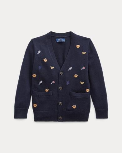 폴로 랄프로렌 Polo Ralph Lauren Embroidered Merino Cardigan,RL Navy