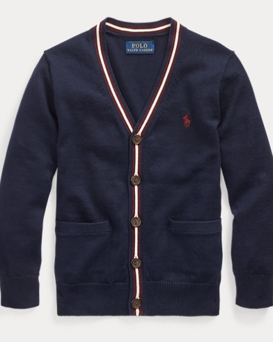 폴로 랄프로렌 남아용 가디건 Polo Ralph Lauren Cotton V-Neck Cardigan,RL Navy Multi