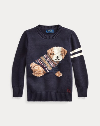 폴로 랄프로렌 남아용 스웨터 Polo Ralph Lauren Cotton-Blend Sweater,RL Navy