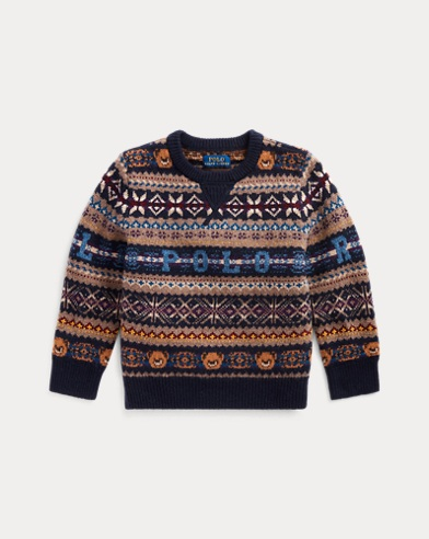 폴로 랄프로렌 남아용 스웨터 Polo Ralph Lauren Bear Fair Isle Sweater,RL Navy Multi