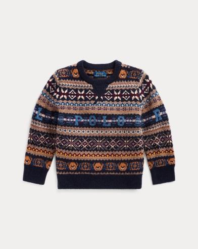 폴로 랄프로렌 Polo Ralph Lauren Bear Fair Isle Sweater,RL Navy Multi