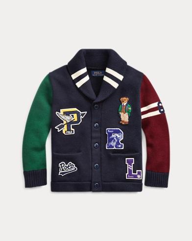 폴로 랄프로렌 Polo Ralph Lauren Polo Bear Cotton Cardigan,RL Navy Multi