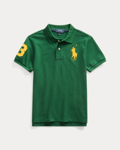 폴로 랄프로렌 Polo Ralph Lauren Slim Fit Cotton Mesh Polo,New Forest