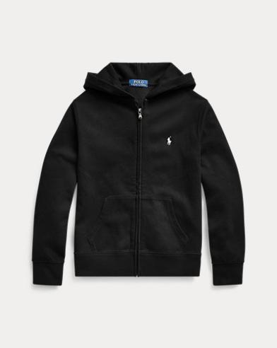 폴로 랄프로렌 Polo Ralph Lauren Double-Knit Full-Zip Hoodie,Polo Black