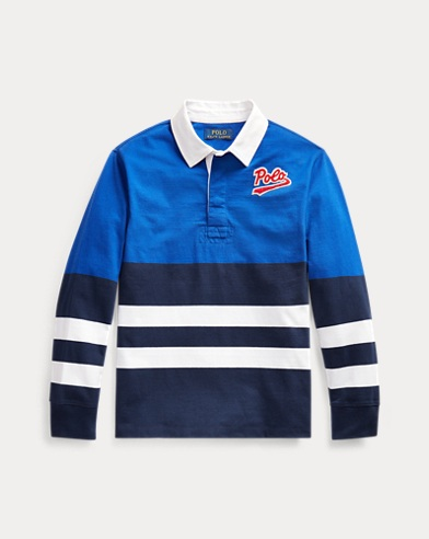 폴로 랄프로렌 Polo Ralph Lauren Striped Cotton Rugby Shirt,Rugby Royal Multi