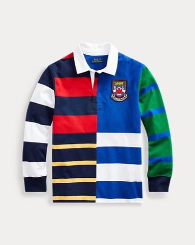 폴로 랄프로렌 Polo Ralph Lauren Striped Cotton Jersey Rugby,French Navy Multi