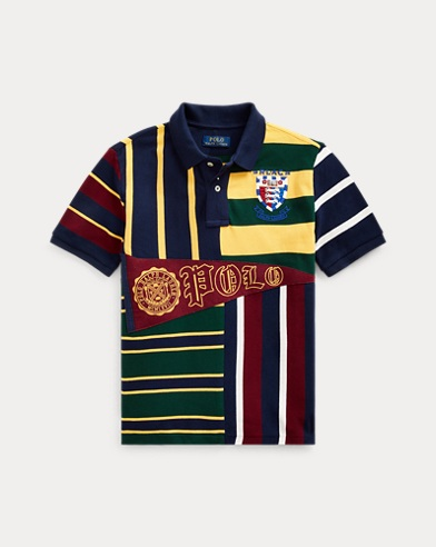 폴로 랄프로렌 보이즈 메쉬 폴로 셔츠 Polo Ralph Lauren Patchwork Cotton Mesh Polo,French Navy Multi