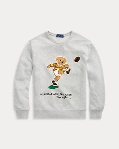 폴로 랄프로렌 Polo Ralph Lauren Rugby Bear Cotton Sweatshirt,Lt Grey Heather