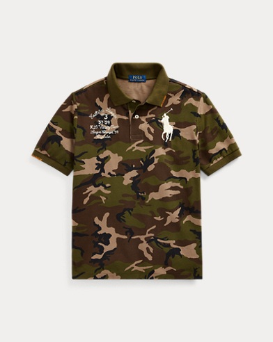 폴로 랄프로렌 보이즈 메쉬 폴로 셔츠 Polo Ralph Lauren Big Pony Camo Cotton Mesh Polo,Surplus Camo