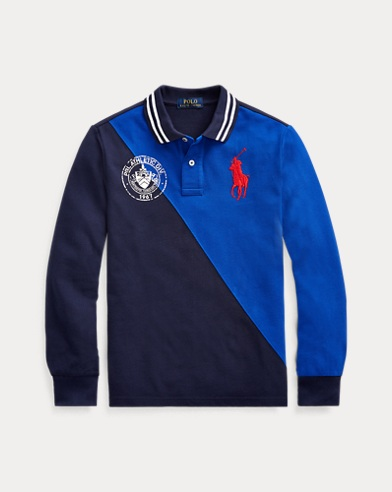 폴로 랄프로렌 보이즈 메쉬 폴로 셔츠 Polo Ralph Lauren Big Pony Cotton Mesh Polo,French Navy