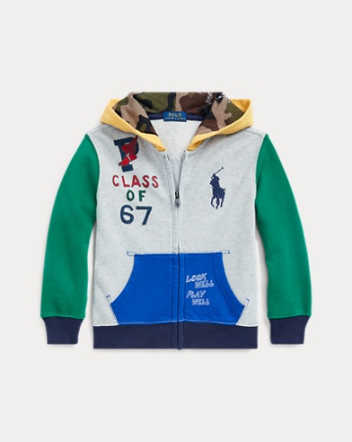 폴로 랄프로렌 Polo Ralph Lauren Color-Blocked Cotton Hoodie,Light Grey Heather