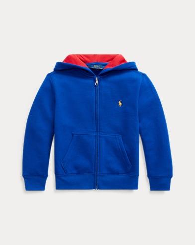 폴로 랄프로렌 남아용 포니 자수 후드티 - 로얄 블루 Polo Ralph Lauren Cotton-Blend-Fleece Hoodie,Rugby Royal