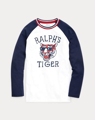 폴로 랄프로렌 보이즈 그래픽 티셔츠 Polo Ralph Lauren Cotton Graphic Baseball Tee,White