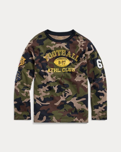 폴로 랄프로렌 보이즈 티셔츠 Polo Ralph Lauren Camo-Print Cotton Jersey Tee,Multi