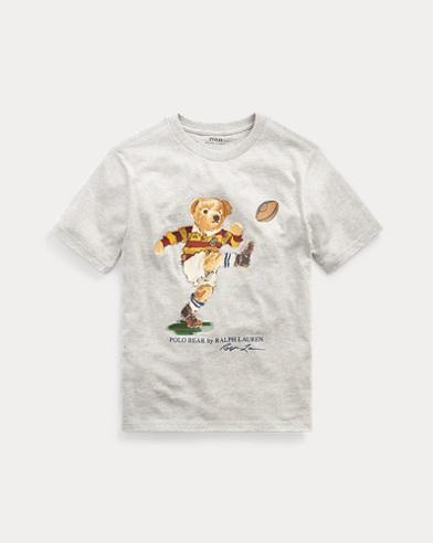 폴로 랄프로렌 Polo Ralph Lauren Rugby Bear Cotton Jersey Tee,Lt Grey