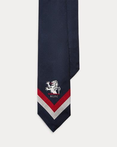 폴로 랄프로렌 Polo Ralph Lauren Silk Narrow Club Tie,Navy