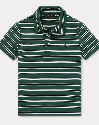 폴로 랄프로렌 남아용 스트라이프 라일사 반팔 폴로셔츠 - 그린 Polo Ralph Lauren Striped Performance Lisle Polo,Kelly Green Multi