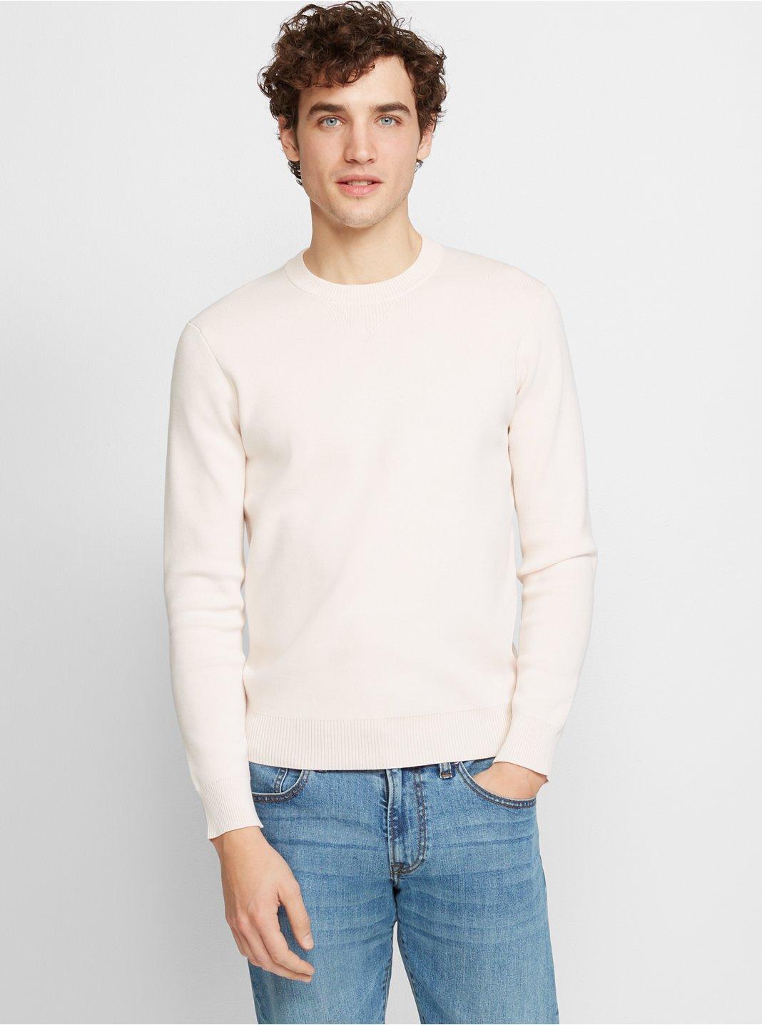 클럽 모나코 Club Monaco Racking Stitch Sweatshirt,Pearl Multi