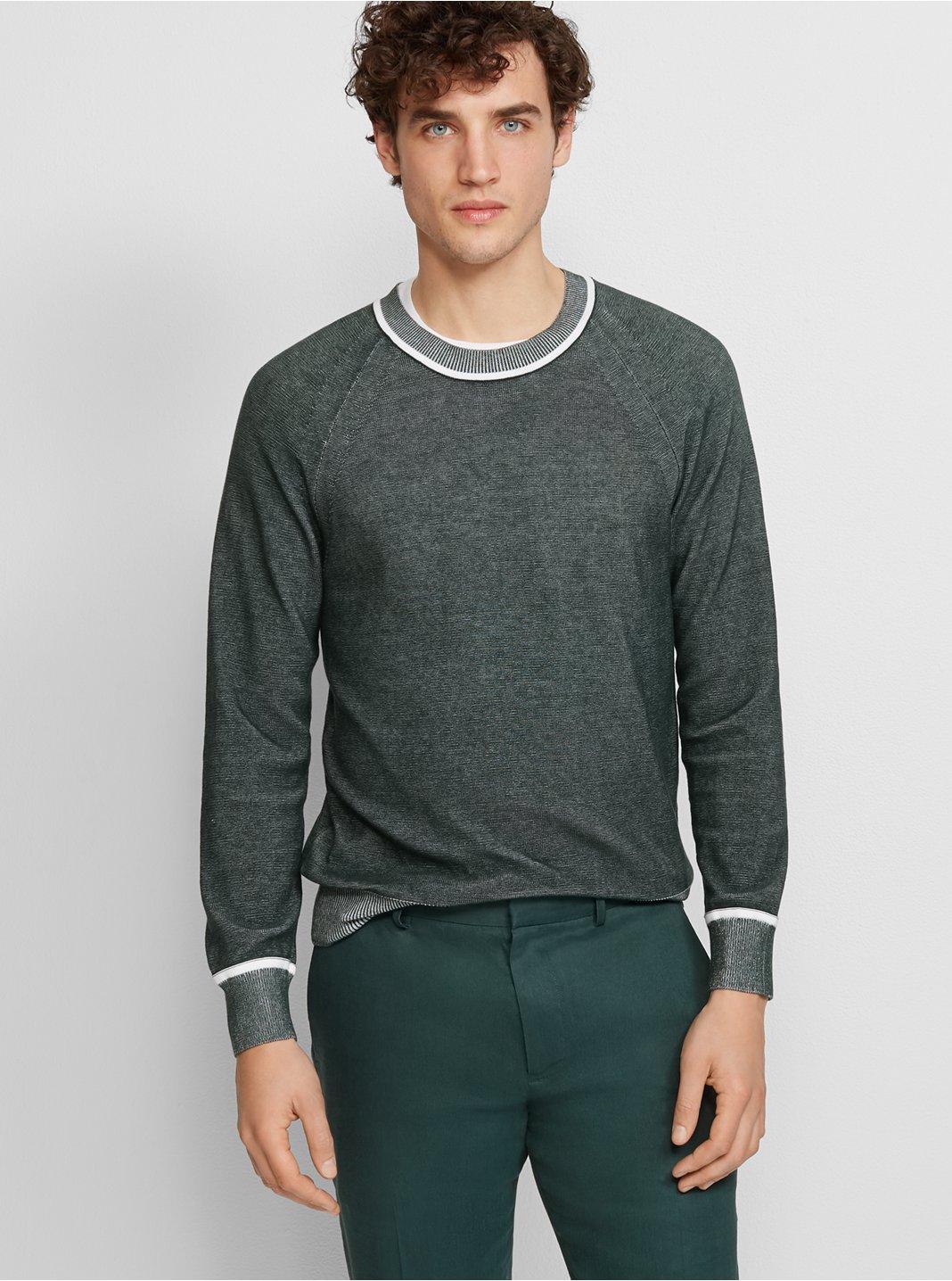 클럽 모나코 Club Monaco Plaited Crew Sweater