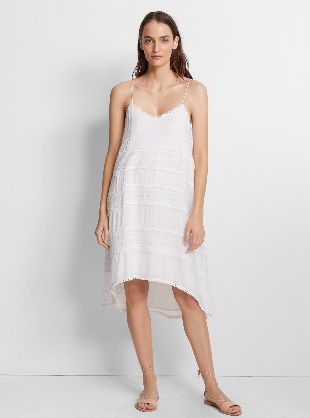 클럽 모나코 Club Monaco Hayzehl Embroidered Dress,White