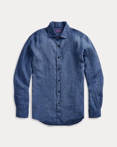 폴로 랄프로렌 Polo Ralph Lauren Linen Chambray Shirt,Light Blue