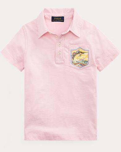 폴로 랄프로렌 남아용 청새치 반팔 폴로셔츠 Polo Ralph Lauren Marlin Cotton Jersey Polo,Garden Pink
