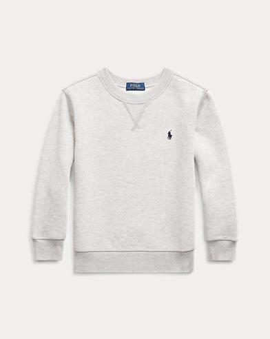 폴로 랄프로렌 남아용 플리스 맨투맨 - 라이트 그레이 Polo Ralph Lauren Cotton-Blend-Fleece Sweatshirt