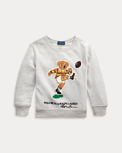 폴로 랄프로렌 Polo Ralph Lauren Rugby Bear Cotton Sweatshirt,Lt Grey Heather