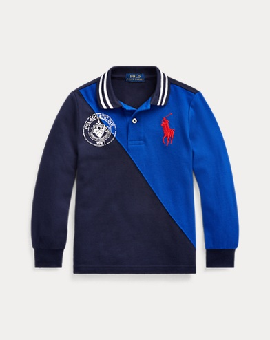 폴로 랄프로렌 남아용 폴로 셔츠 Polo Ralph Lauren Big Pony Cotton Mesh Polo,French Navy