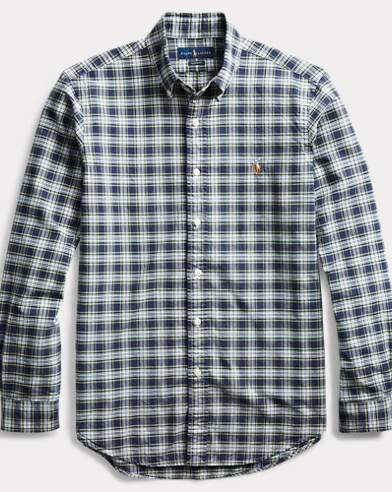 폴로 랄프로렌 Polo Ralph Lauren Classic Fit Plaid Oxford Shirt,Multi