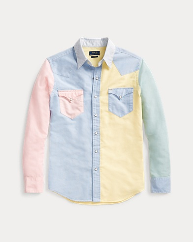 폴로 랄프로렌 Polo Ralph Lauren Custom Fit Western Fun Shirt,Multi