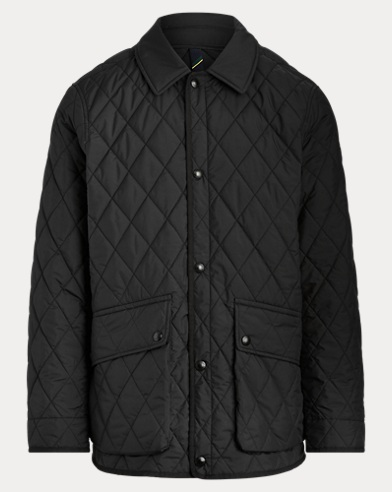 폴로 랄프로렌 Polo Ralph Lauren The Iconic Quilted Car Coat,Black