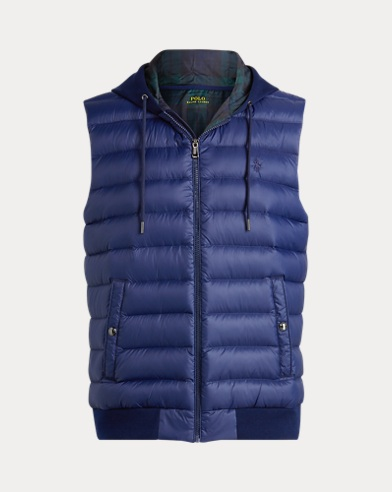 폴로 랄프로렌 다운 후드 조끼 Polo Ralph Lauren Down Hooded Vest,Navy