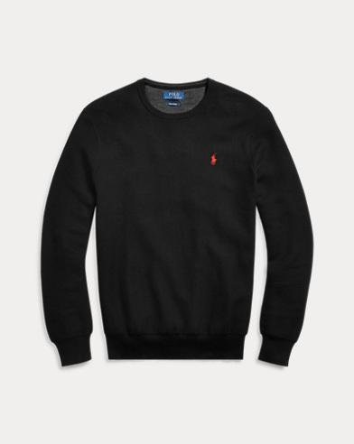 폴로 랄프로렌 Polo Ralph Lauren Cotton Crewneck Sweater,Black